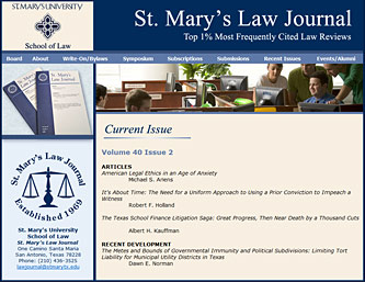 St. Mary's Law Journal, San Antonio, Texas